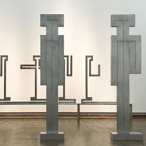 []NE + {}NE. Figures by Joannis Avramadis. Leopold Museum
