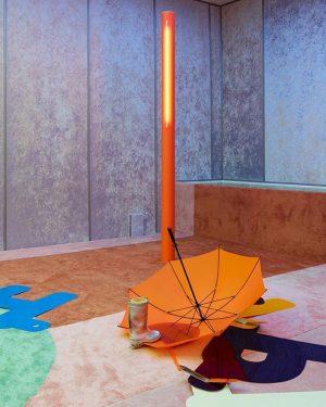 Teppiche, Pappe, Röhren und Regenschirme: sie alle sind Teil der Installation von @alexdacorte in Wiens Secession. Der...