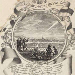 Watching the sky 🔭Wer hat heute den Asteroiden gesehen? Bild: Panorama Wiens vom Süden mit Kometen, Johann...