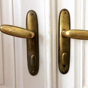 Door handles at the Bridge Club #ohw17 #openhousewien #adolfloos Vienna, Austria