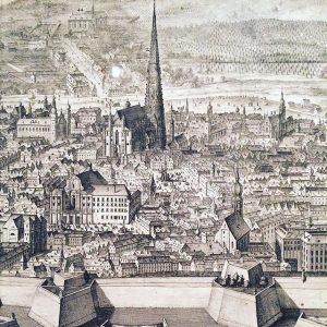 Postcard view on oldtown Vienna #postcard #vienna #viennafromabove #innerestadt #wienmuseum