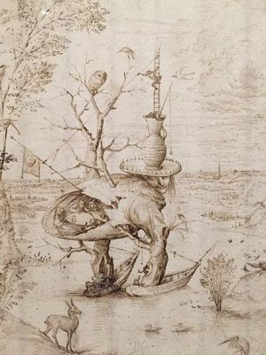Hieronymus Bosch. 'Der Baummensch/ The Tree Man'. 1550 Albertina Museum