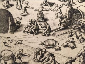 Pieter Brugel. 'Die Kirmes Von Hoboken'. 1559. Albertina Museum