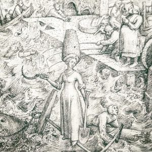 Hope is armed with a spade, a sickle, and a beehive. #bruegel #vlemishhopeisahipstacommie Albertina Museum