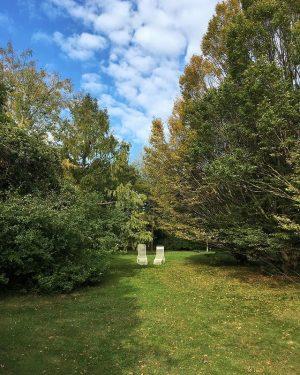 Just the two of us • #deckchair #grass #bluesky #leaves #autumn #autumnlovers #autumncolors #autumnlight #autumnweather #autumnwalk #fall...