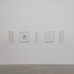 #WincyAndCjVienna Day 1: Nicole Eisenman's drawings and sketches. Interesting way to mount and ...