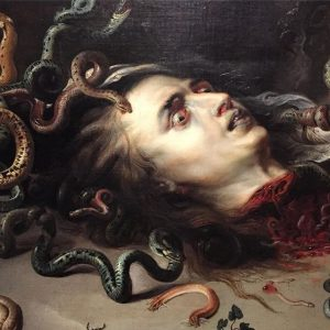 *Detail from Head of Medusa, Peter Paul Rubens . Don't look too closely! Otherwise…in this work of...