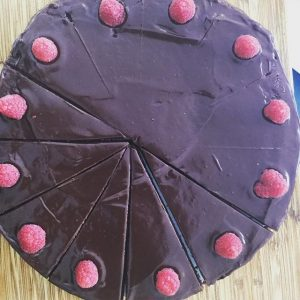 Chocolate raspberry ganache cake#protectmefromwhatiwant#chocolateheaven#12munchies