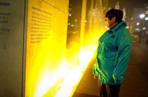 Olafur Eliasson's yellow fog Verbund