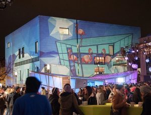 #mqwinter #leopoldmuseum #largescaleprojection #lichttapete MQ – MuseumsQuartier Wien