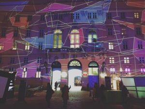 winter light delights ✨ @lichttapete #MQwinter #placetobe MQ – MuseumsQuartier Wien