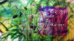 [NEW VID ONLINE] Gallery walk Nov 2017 Eschenbachgasse #art #Vienna #photographie #davidbowie