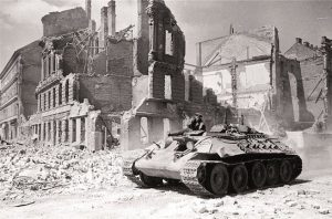 "Vienna during the Red Army's ""invasion"". (April 1945)"