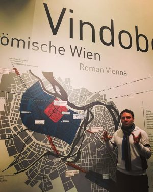 Learning about #Roman #Vienna (a.k.a #Vindobona) at the Römermuseum @wienmuseum. Those clever Romans ...