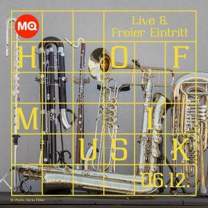Mittwoch bläst euch nicht nur der Winterwind um die Ohren, sondern auch die MQ Hofmusik Winter Edition:...