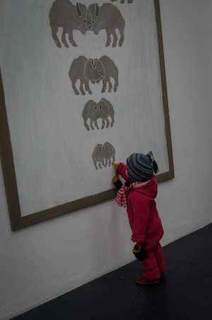 Bison Nr2 Acryl auf Leinwand 200x150 cm #anouklammanouk #galeriesteinek Galerie Steinek