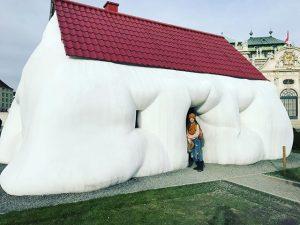 When your house has overindulged 😂🙈 #fathouse #obese #art #vienna Belvedere Botanischer Garten