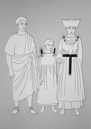 The modern family #family #miserable #romans #research #illustration #römer #serious #faces #museum Wien ...