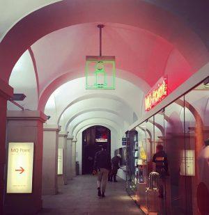 MQ Point of no return ☝🏼👉🏼😉#discoverMQ #placetobe #museums #shops #restaurants #creativespace #recreation #art #Vienna MQ – MuseumsQuartier...
