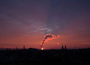 Sonnenaufgang über Wien. #Wien #Vienna #fujifilmxt2 #fujifilm #myfujilove #23mm2 #nofilter Vienna, Austria