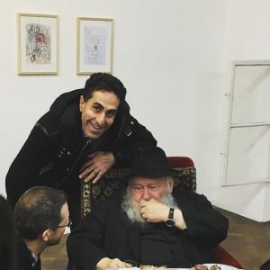 Gatecrashing a conversation with our Austrian legend Hermann Nitsch in Vienna last night durin his drawing exhibition...