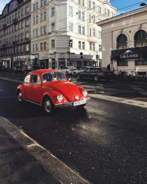 Red beauty on the street 🚗 Yesterday the day started with a snowfall, then gave us some...