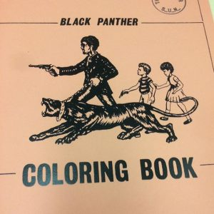 The Black Panther Coloring Book; 1 of the artist books displayed at the exhibition Publishing as an...