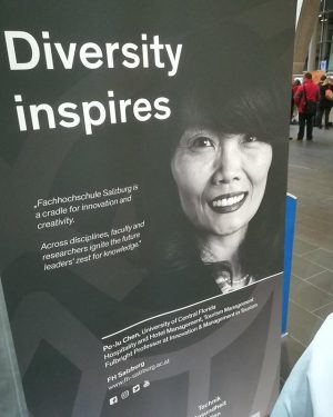 Spotted in #Salzburg: US Fulbright alumna Po-Ju Chen on an @fhsalzburg poster! Po-Ju is a professor at...