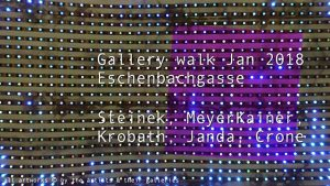 [NEW VID ONLINE] Gallery walk Jan 2018, Eschenbachgasse #art #Vienna
