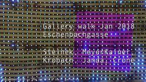 [NEW VID ONLINE] Gallery walk Jan 2018, Eschenbachgasse #art #Vienna