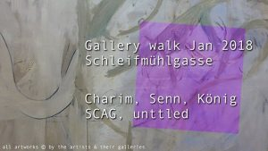 [NEW VID ONLINE] Gallery walk Jan 2018, Schleifmühlgasse Charim Events, Gabriele Senn, Christine ...