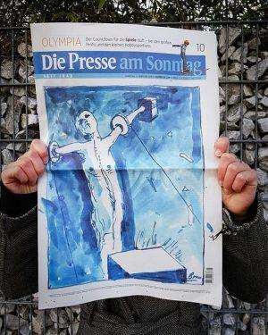 Wer hat das heutige Cover der Presse am Sonntag gestaltet? Günter Brus! Und wer mehr sehen will,...