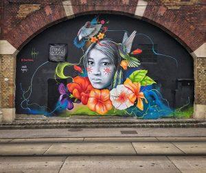 Artist: Obed Osorio @abraham.o1 Curated: @philipp_ionart @ionart_community Sunday walk together with @kristinchyk and @oliveroth #famigliavienna #famiglia_vienna #spraypaintart...