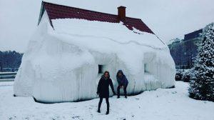 Prima della 3a recita di #saul!!! ❄️ neve ❄️ #vienna #theateranderwien #soprano + #contralto #francescascioti Belvedere Museum