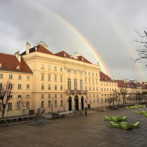 The rainbows were screaming, INSTAGRAM!! #mylittlepony #rainbow #museumsquartier MQ – MuseumsQuartier Wien