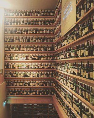 Wall of bottle #interior #walldecor #restaurant #PKdots Zum Schwarzen Kameel