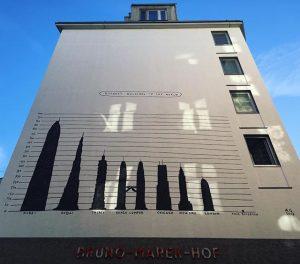 Highest buildings in the world - and this building #brunomarekhof #viennamurals #streetsofvienna #streetartvienna #1060 #mariahilf #springiscoming #wien...