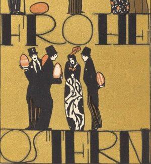 Happy Easter! ✨ Mit dieser stilechten Postkarte der Wiener Werkstätte wünschen wir rundum Frohe Ostern und freuen...