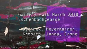 [NEW VID ONLINE] Gallery walk March 2018 Eschenbachgasse #art #Vienna #gallerywalk