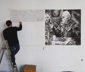 #Geschichtsschreibung als #Wandzeichnung - @volkskundemuseum_wien erforscht individuelle Erinnerungen an den #Jugoslawien #Krieg #testimony Volkskundemuseum Wien