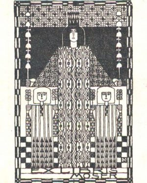 EXLIBRIS MOSER ❤ Koloman Moser created this exlibris around 1905 for himself and his wife Ditha to...
