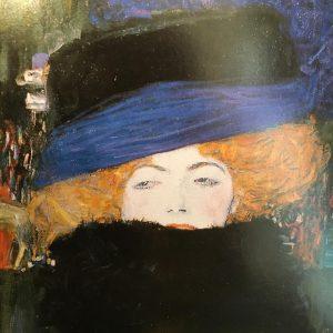 Gustav Klimt, Woman with Hat and Feather Boa(detail),1909. #klimt #gustavklimt