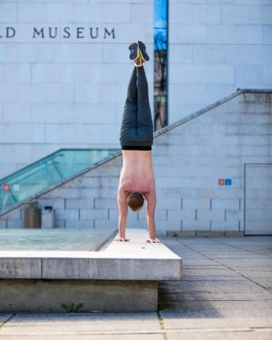 One of the handstands from amazing Vienna. I often mix up all my poses, so I don't...