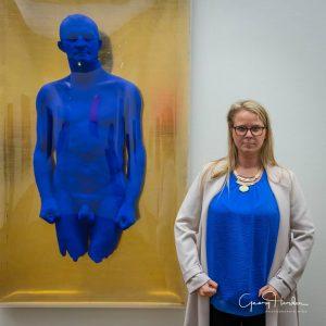 Manche haben das passende IKB (Yves Klein Blau) gleich mitgebracht 😀 #leopoldmuseum #loveleopold #wowheidihortencollection #yveskleinblue #wowcollection #art...