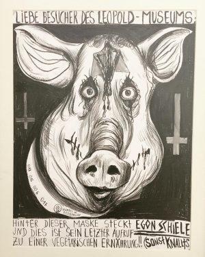 Egon Schiele (by Thomas Palme) #goveggie #egonschiele #leopoldmuseum #vienna #exhibition Leopold Museum