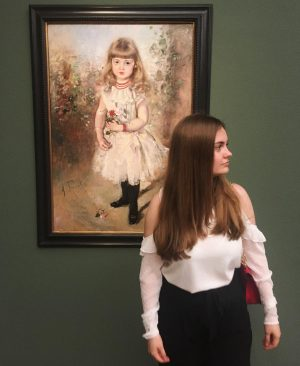 THEN & NOW 💌 «Portrait of the Opera Singer Lilly Helger as a Girl» by Anton Romako,...