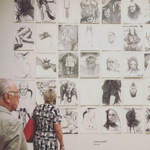 #thomaspalme #godisapencil #vienna ⚫️🔴 Leopold Museum