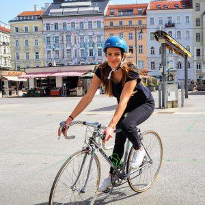 @frau.kaesebrot fährt seit einer Woche mit dem Fahrrad durch Wien und ist begeistert. Wir haben Sie am...