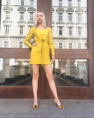#lookoftheday ❤️ Ingrid #wearing a #newin #dress by #frnch for €79,- today 👌🏻 #ootd #ss18collection #fashion #shopping...