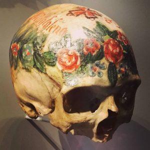 In #hallstatt #austria the #skulls of the #beloveddead were painted and kept as familiar friends #mementomori #deathrites...